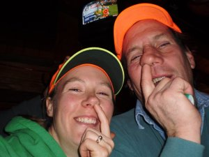 Me and my dad being silly. It's how we roll.