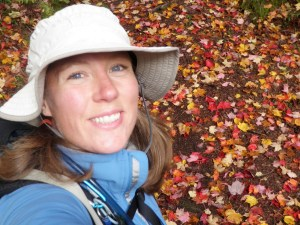 During a fall hike in the Porcupine Mountains in Upper Michigan.