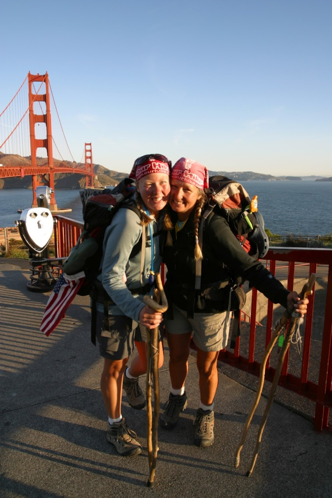 Almost done on the ADT. Mom and me at the Golden Gate Bridge!