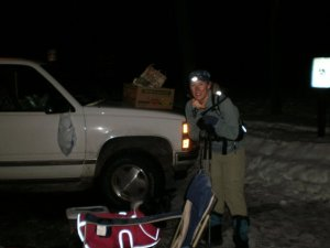 This was my last checkpoint at 56 miles. Somehow, I was still smiling! (2010)