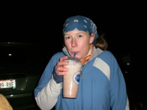 This is how I fuel for 32 miles after just hiking 32 miles. A milkshake!