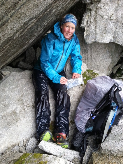 Patagonia ski shell rain jacket and Mountain Hardwear Conduit Rain Pants