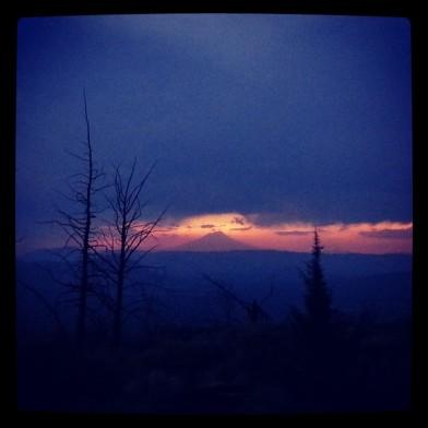 PCT Mt Shasta from Hat Creek Rim