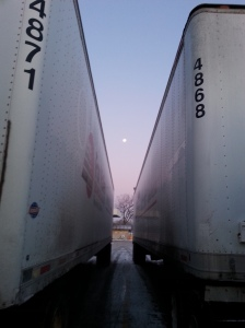 A moon and two trailers