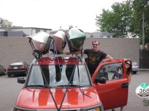 Richard and kayaks