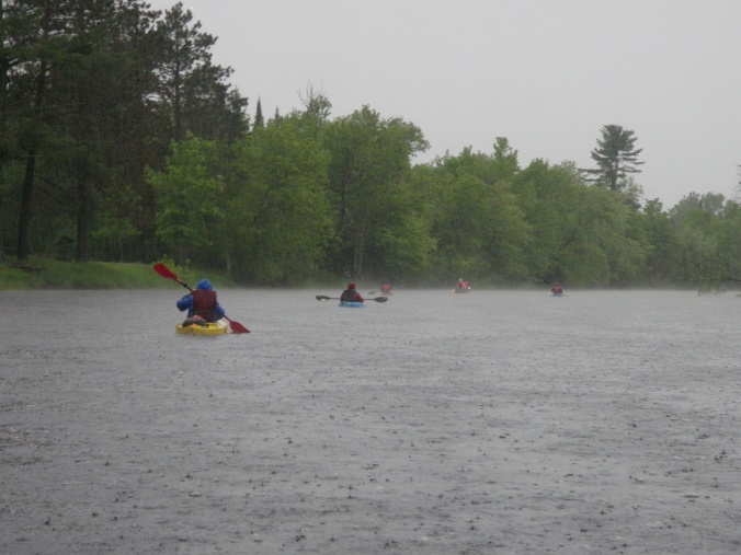 Rainy paddling
